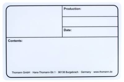 Stairville Tourlabel 290x190mm White
