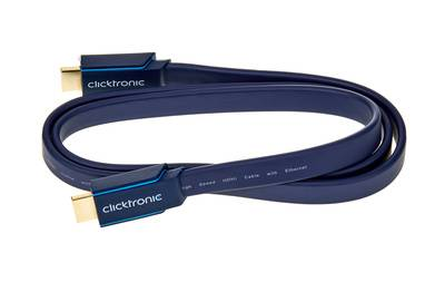 Clicktronic HDMI Casual Flat Cable 1m