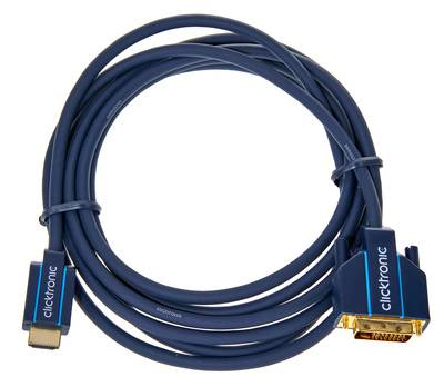 Clicktronic HDMI - DVI Casual Cable 3m