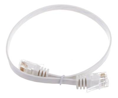 Lindy Cat6 Flach-Cable 0,3m White