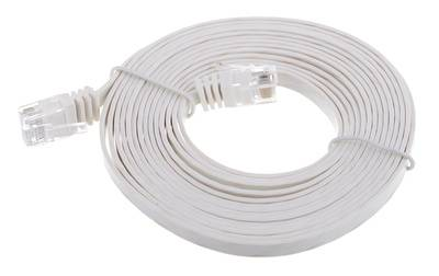 Lindy Cat6 Flach-Cable 3m White