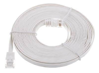 Lindy Cat6 Flach-Cable 5m White