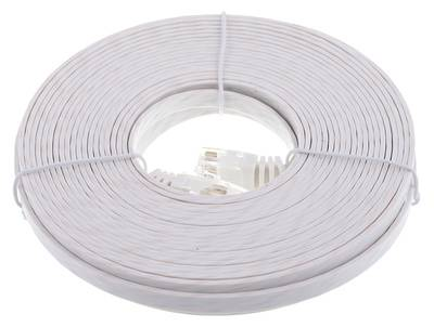 Lindy Cat6 Flach-Cable 10m White