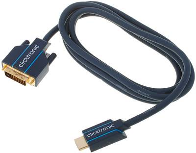 Clicktronic HDMI - DVI Casual Cable 2m