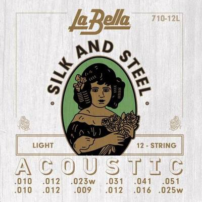 La Bella 710-12L Silk & Steel L