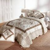 Blancheporte Couvre-lit patchwork - taupe