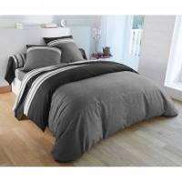 Blancheporte Linge de lit Nathalie coton - gris / noir <br /><b>8.99 EUR</b> Blancheporte