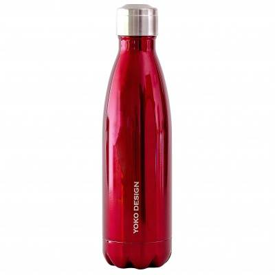 Blancheporte Bouteille isotherme inox 500 ml rouge - rouge
