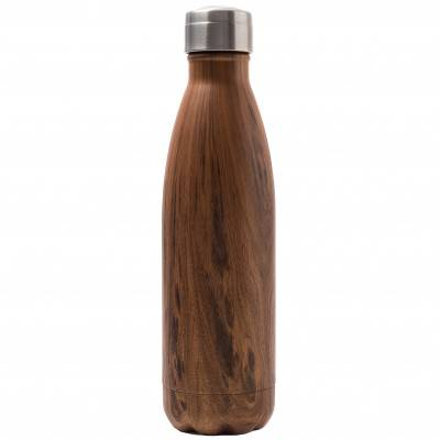 Blancheporte Bouteille isotherme inox 500 ml motif bois - bois