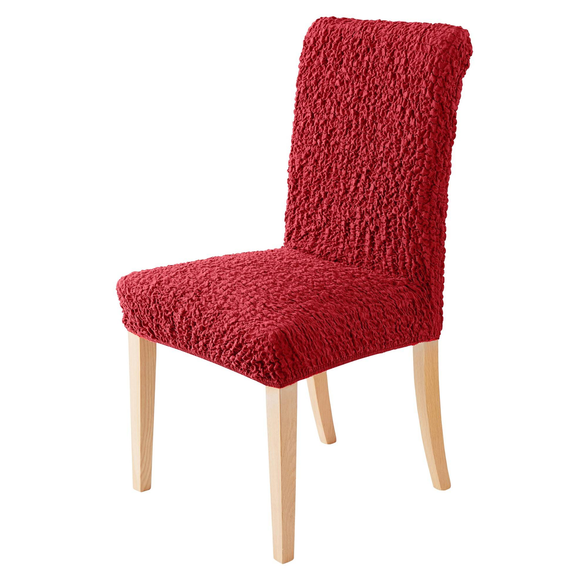 Housse chaise bi-extensible - rouge - Blancheporte
