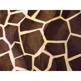 CRS Fur Fabrics Fausse Fourrure Peau de Poney en Velboa Tissu Big Girafe