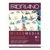 Honsel FABRIANO Mixed Media Bloc de 40 feuilles de papier A4 250 g/m² Convient pour les techniques de peinture humides et sèches