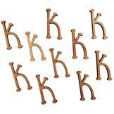 Générique Country Love Crafts Lettre K en bois Marron clair