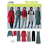 Simplicity Simplicit㉠pour Jeune Femme/Pantalon Femme, Gilet A-10 12 14 16 18