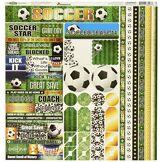 Reminisce Football Papier cartonné Autocollant 30,5x 30,5cm