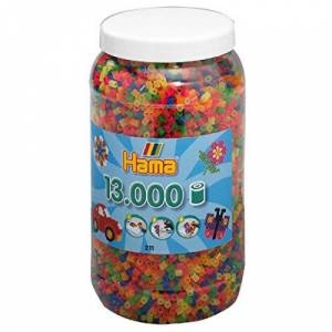 Hama Perles  Repasser 211-51 13000 pices Fluo - Publicité