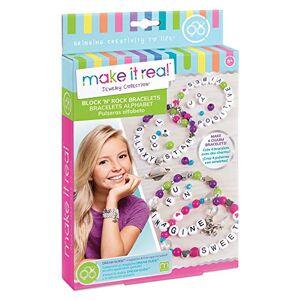 Make It Real 1205 Bloc n  Rock Bracelets Alphabet Letter Perles & Charms Bracelet Faire Kit pour Les Filles - Publicité
