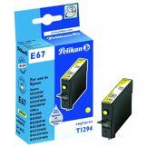 Pelikan E67 Cartouche compatible pour Epson T129 9ml Jaune pigmenté