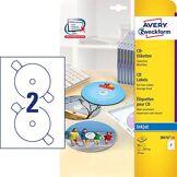 Avery Zweckform J8676-25 Paquet de 25 feuilles d'étiquettes à CD SuperSize 2880 dpi à séchage rapide Ø 117 mm (Import Allemagne)