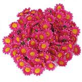 Générique Environ 100pcs Artificielle Gerbera Daisy Soie Têtes de Fleurs pour DIY fête de Mariage (Rose foncé)