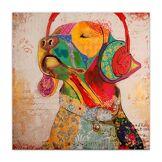 Arte Dal Mondo AS327X1 Labrador Pop Art Tableau Modern Peint à la Main sur Toile avec Chassis