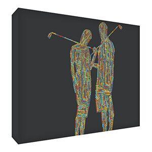 ART Gallery Toile emballée Motif couple de golf Typographique Multicolore 30 x 20 x 4 cm - Publicité
