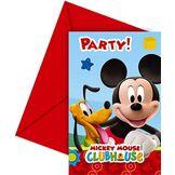 amscan Carton d'invitation Mickey Disney© - Taille Unique