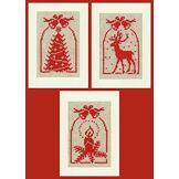 Vervaco Kit carte de vœux Avec cloches lot de 3
