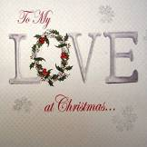 White Cotton Cards Carte de Noël fait main à mon amour