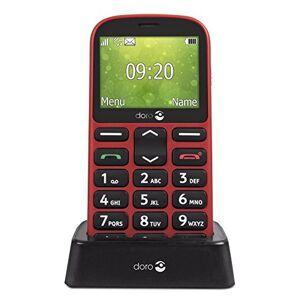 Doro 1361 Téléphone Portable 2G Dual SIM Débloqué pour Seniors avec Grandes Touches, Caméra, Touche d'Assistance et Socle Chargeur Inclus (Rouge) [Version Franaise] - Publicité