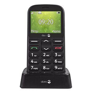Doro 1361 Téléphone Portable 2G Dual SIM Débloqué pour Seniors avec Grandes Touches, Caméra, Touche d'Assistance et Socle Chargeur Inclus (Noir) [Version Franaise] - Publicité