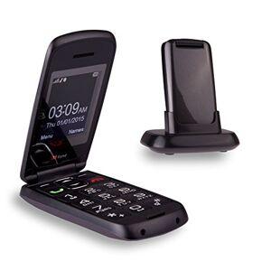 TTfone Star- Téléphone Mobile à Clapet et à Grosses Touches Facile à Utiliser Sans Carte SIM (Gris) - Publicité
