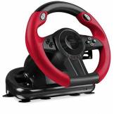 Speedlink TRAILBLAZER Racing Wheel for Xbox One/PS4/PS3/PC - Volant de Gaming (Vibration, 12 Boutons) Noir-Rouge