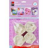 Marabu Kreativfarben Marabu 027100002 Lot de 4 mini tampons pour bébé