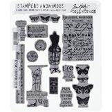 Stampers Anonymous emboutisseurs Anonyme Tim Holtz Tampon en Caoutchouc étirable de 7x 21,5cm, Grenier Trésors