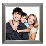 Deknudt Frames S41ND1 Cadre Photo avec Filet Résine Argent 60 x 80 cm