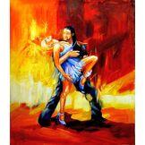 Legendarte Peinture à l'huile sur Toile - Légèreté Artistique - cm. 50x60