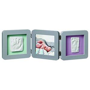 BabyToLove Baby Art Kit de Moulage et d'Empreintes Modern Double Print Frame Gris 34120139 - Publicité