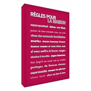 ART Bloc Décoratif Rgles pour la Maison Framboise 21 X 14 X 2 cm - Publicité