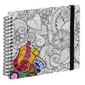 """Hama Carnet  spirale """"Colorare"""", 28x24cm, 50pages blanches, vrilles - Publicité"""
