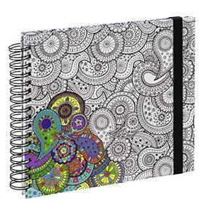 """Hama Carnet  spirale """"Colorare"""", 28x24cm, 50pages blanches, cachemire - Publicité"""