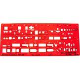 Graphoplex Trace sanitaires 1/100e modèle I Orange Transparent