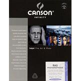 Infinity Canson infinity - Rag Photographique - 206211046 - Papier photo - Format A4 - 25 feuilles - Blanc