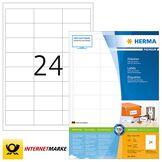 Herma 4614 Étiquettes 66 x 33,8 Premium A4 4800 pièces Blanc