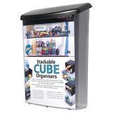 Deflecto Deflect-o Boîte à journaux extérieure avec inhibiteurs d'UV Transparent