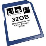 DSP Memory 4051557435803de Z 32Go Carte mémoire pour Nikon CoolPix S2900