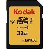 Kodak ekms d32ghc10K SDHC Class 10UHS-I U1Carte mémoire 32Go