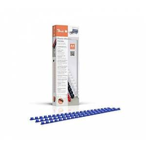 Peach Baguettes Plastique  Anneaux  6mm, pour 25Feuilles A4, Bleus - Publicité