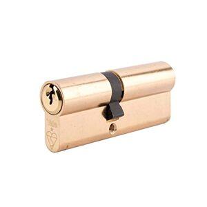 Yale Cylindre Euro double 1 étoile Kitemark PKM3550-PB 3 clés fournies Haute sécurité Emballage Visi Convient  tous les types de portes 35:10:50 (95 mm) Finition laiton - Publicité