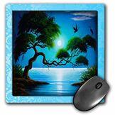 3drose LLC 20,3x 20,3x 0,6cm Mouse Pad, arbre sur la côte avec Téléfilm) (MP 99531_ 1)